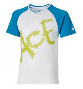 ASICS - T-shirt chłopięcy Ace Top real white