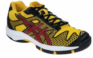 ASICS - Buty tenisowe dla dzieci GEL SOLUTION SPEED 2 black-fiery red-yellow