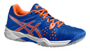 ASICS - Buty tenisowe dla dzieci GEL RESOLUTION 6 blue-flash orange-silver