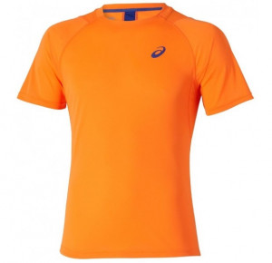 ASICS - T-shirt Club Short Sleeve Tee shocking orange