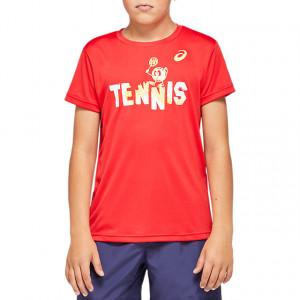 ASICS - T-shirt junior Tennis Kids Graphic T classic red (2044A008-600)
