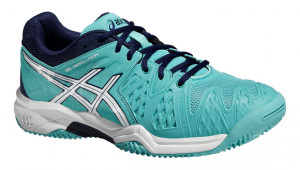 ASICS - Buty tenisowe dla dzieci GEL RESOLUTION 6 CLAY pool blue-white-indigo blue