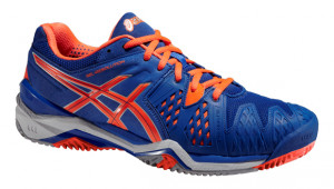 ASICS - Buty tenisowe dla dzieci GEL RESOLUTION 6 CLAY blue-flash orange-silver